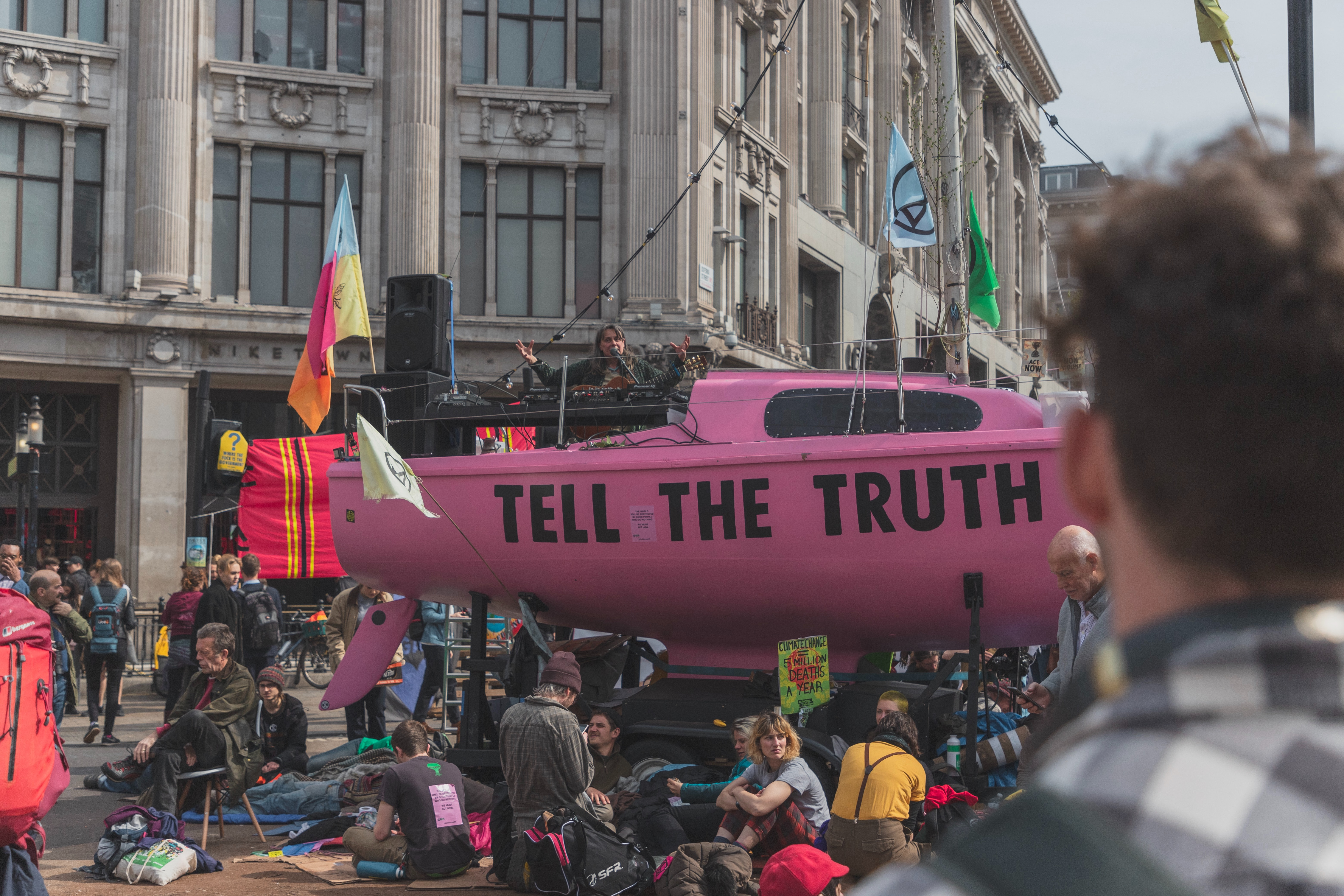 tell the truth protest